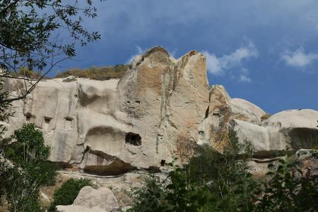 cavern: Rock Formation in Pigeons Valley, Cappadocia, Turkey