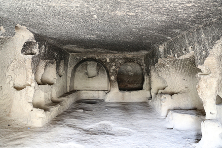Hand Carved Room in Nevsehir City, Cappadocia, Turkey