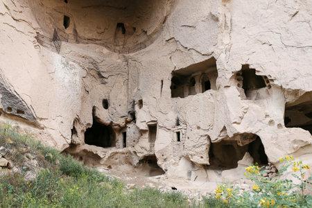 Carved Rooms in Zelve Valley, Cappadocia, Turkey Editorial