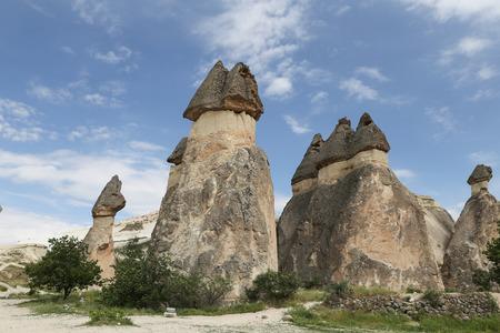 Rock Formations in Pasabag Monks Valley, Cappadocia, Turkey