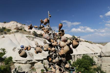 Pigeons Valley in Nevsehir City, Cappadocia, Turkey Stock Photo