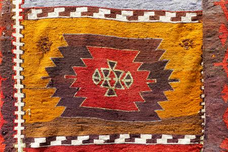 oriental rug: Colorful Turkish Carpet in Uchisar, Cappadocia, Turkey
