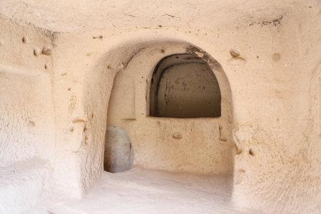 Carved Room in Zelve Valley, Cappadocia, Turkey