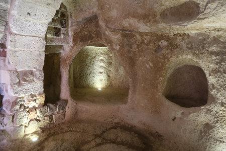 Door inside Uchisar Castle, Cappadocia, Nevsehir City, Turkey