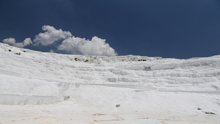 Travertines in Pamukkale Cotton Castle, Denizli, Turkey
