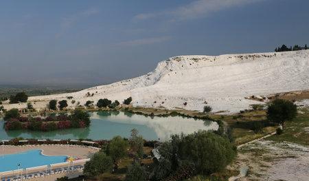 Travertines in Pamukkale Cotton Castle, Denizli, Turkey