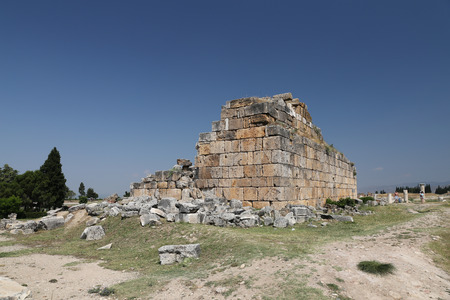 Ruins in Hierapolis Ancient City, Pamukkale, Turkey Editorial