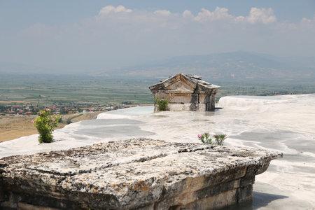 Hierapolis antique tomb in Pamukkale, Denizli, Turkey Editorial