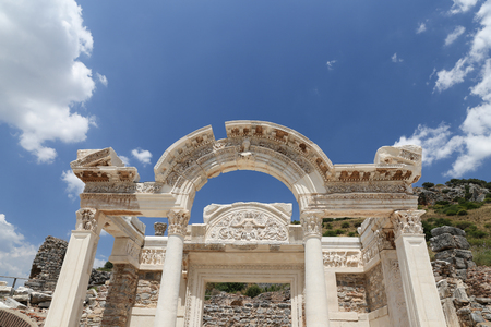 Temple of Hadrian in Ephesus Ancient City in Izmir, Turkey