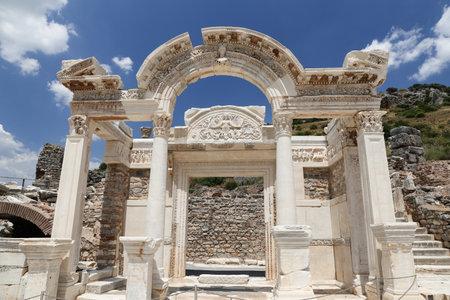 Temple of Hadrian in Ephesus Ancient City in Izmir, Turkey