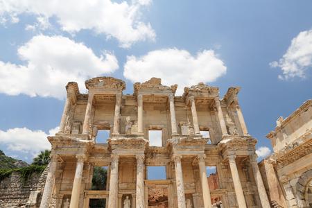 corinthian column: Library of Celsus in Ephesus Ancient City, Izmir, Turkey