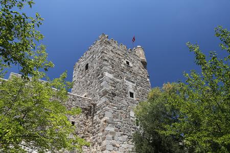 Tower of Bodrum Castle in Aegean Coast of Turkey