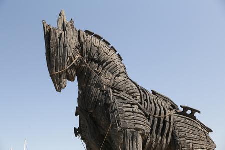 映画都市チャナッカレ、トルコのトロイの木馬 写真素材