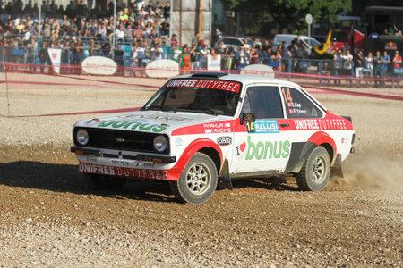 BURSA, TURKEY - JULY 22, 2017: Engin Kap drives Ford Escort MKII of Parkur Racing Team in Rally Bursa