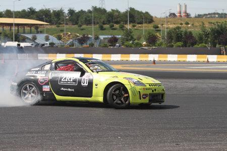 ISTANBUL, TURKEY - JULY 29, 2017: Timur Pomak drives Nissan 200SX S13 of MTG Motorsport team in Apex Masters Turkish Drift Series Istanbul Race. Editorial