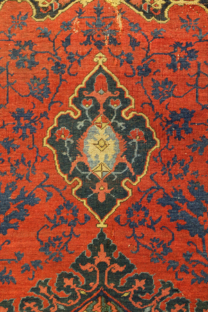 Detail of Turkish Carpet in Istanbul City, Turkey Stock Photo