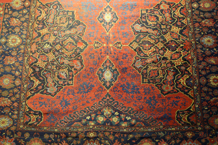 Detail of Turkish Carpet in Istanbul City, Turkey Standard-Bild