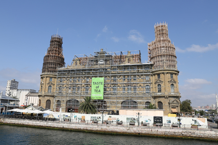 ISTANBUL, TURKEY - SEPTEMBER 16, 2017: Haydarpasa train station is being restored after roof fire Editorial