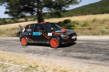 CANAKKALE, TURKEY - JULY 01, 2017: Uygar Bilgili drives Peugeot 106 GTI in Rally Troia