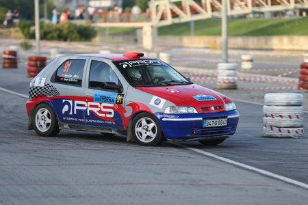 CANAKKALE, TURKEY - JULY 01, 2017: Burcin Suer drives Fiat Palio in Rally Troia