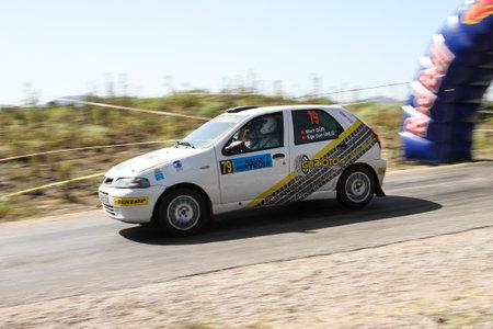 CANAKKALE, TURKEY - JULY 01, 2017: Mert Gur drives Fiat Palio in Rally Troia