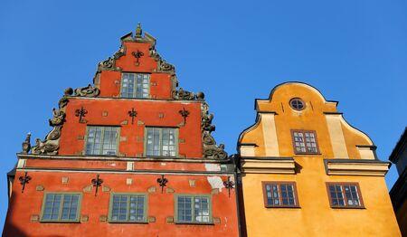 Buildings in Stortorget Place, Stockholm City, Sweden