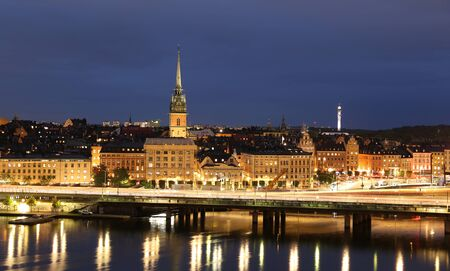 General view of Old Town Gamla Stan in Stockholm City, Sweden