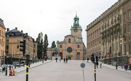 Storkyrkan, Cathedral of St Nicholas in Stockholm City, Sweden Editorial