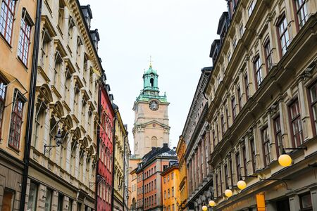 Storkyrkan, Cathedral of St Nicholas and Buildings in Gamla Stan, Stockholm City, Sweden