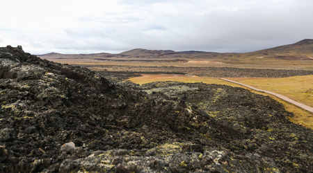 Leirhnjukur lava field in North of Iceland