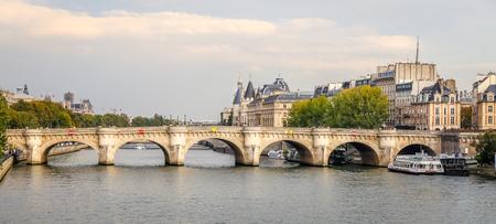 Bridge over Seine River, Paris City, France