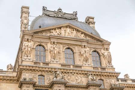 Louvre Museum in Paris City, France
