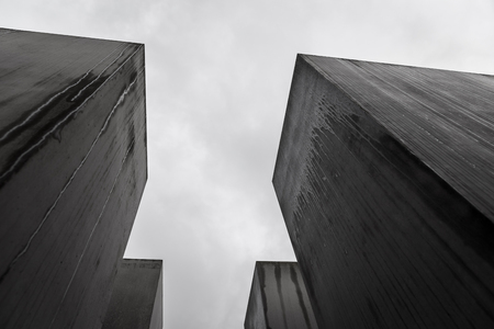 Memorial to the Murdered Jews of Europe in Berlin City, Germany Editorial