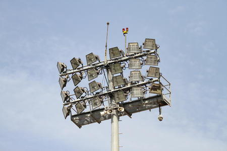 Ligting Equipment over pole in a Stadium