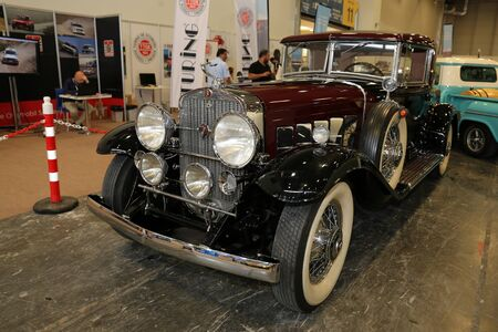 ISTANBUL, TURKEY - JULY 01, 2018: Cadillac display at Istanbul Classic Automobile Festival