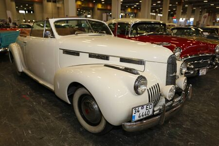 ISTANBUL, TURKEY - JULY 01, 2018: 1940 Cadillac LaSalle Convertible display at Istanbul Classic Automobile Festival Editorial