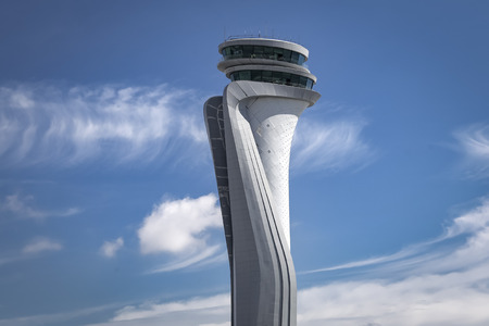 Air traffic control tower of Istanbul new Airport, Turkey Editorial