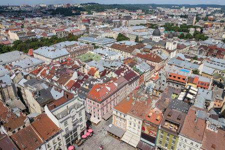 Aerial view of Lviv City in Ukraine