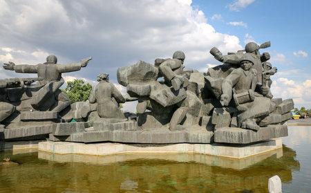 Old Military Monument in Kiev City, Ukraine