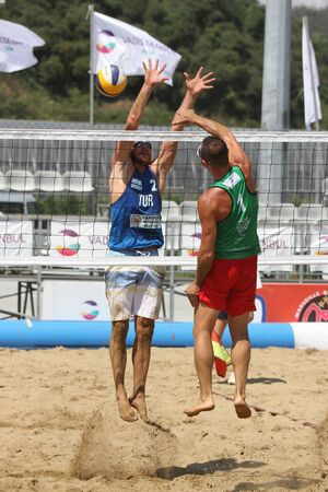 ISTANBUL, TURKEY - AUGUST 05, 2018: Participants in Pro Beach Tour Istanbul Stage