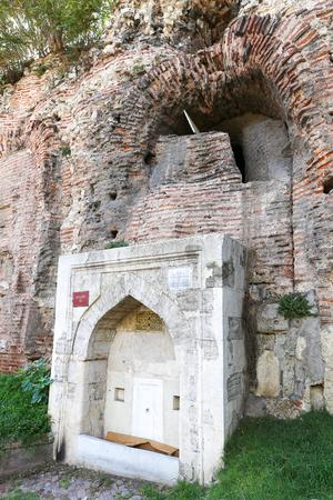 Old Fountain near wall of Hippodrome of Constantinple, Istanbul City, Turkey Stok Fotoğraf