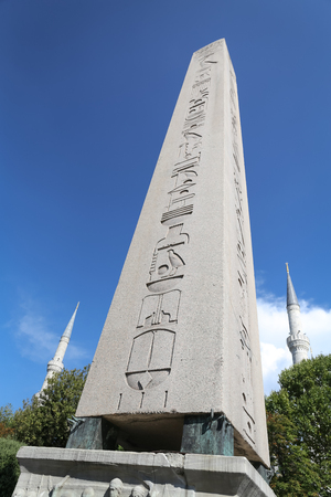Obelisk of Theodosius in Istanbul City, Turkey Editorial