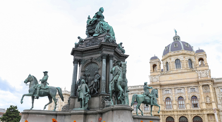 Empress Maria Theresia monument in Vienna City, Austria Editorial