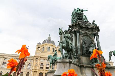Empress Maria Theresia monument in Vienna City, Austria Stock Photo