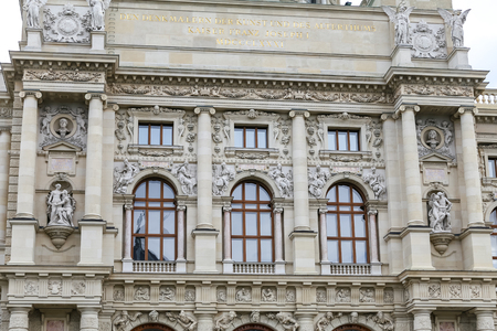 Facade of Kunsthistorisches Museum in Vienna City, Austria