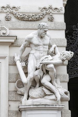 Statue in Hofburg Palace, Vienna City, Austria 版權商用圖片