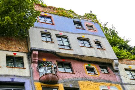 Hundertwasserhaus in Landstrabe District, Vienna City, Austria 新闻类图片