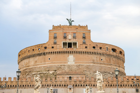 Mausoleum of Hadrian - Castel Sant Angelo in Rome City, Italy Stock Photo - 122327921