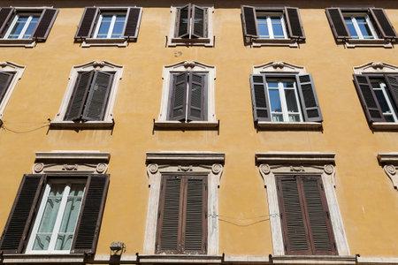 Facade of Building in Rome City, Italy