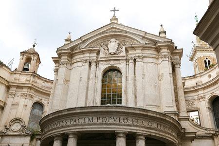 Santa Maria della Pace Church in Rome City, Italy